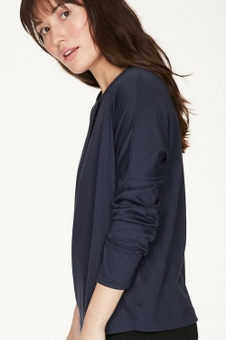 Teresa Jersey Organic Cotton Blouse Midnight Navy