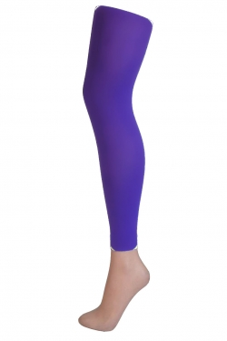 50 Denier 3D Footless flo purple