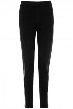 The Faux-Leather Insert leggings black