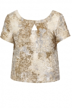 Metallic Cropped top ivory