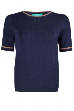 Mary Knit top navy/timber