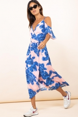 Ivy Dress Blue Bloom on Nude