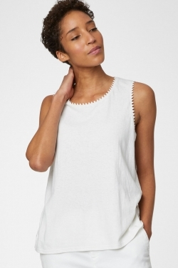 Betta Hemp & Cotton Vest Top White