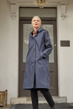 Isabella Organic Cotton Double Breasted Rain-Coat
