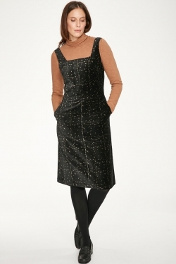 Selina Velvet Organic Cotton Pinafore Dress