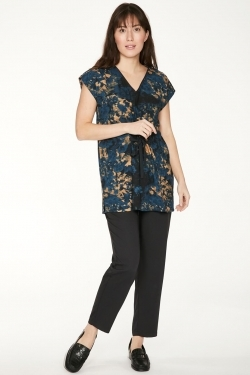 Anna Organic Cotton & Modal Drawstring Top
