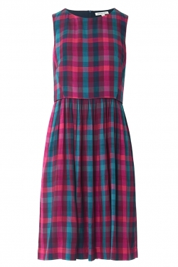 Anneka Dress in Jewel Plaid