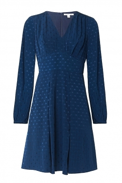 Bianca Dress in Ink Spot Jacquard