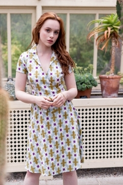 Joan Tile Print Cotton Dress