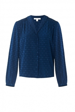 Edie Blouse in Ink Spot Jacquard