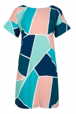 Gigi Mosaic Tile Cocoon Dress