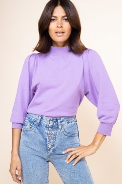 Leela Knitted Top in Pastel Purple
