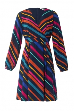Pattie Dress in Charming Crayon Stripe