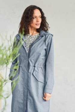 Jessica Waterproof Organic Cotton Chambray Coat