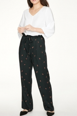 Rosamund Bamboo Wide-Leg Trousers