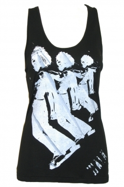 3Knot top 3Skate print black