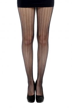 Herringbone Net Tights black