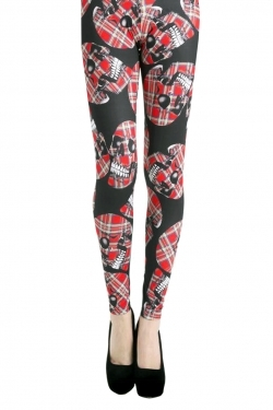 Avril Leggings black/red