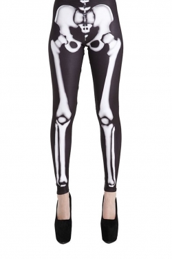 Skeleton Printed Leggings black